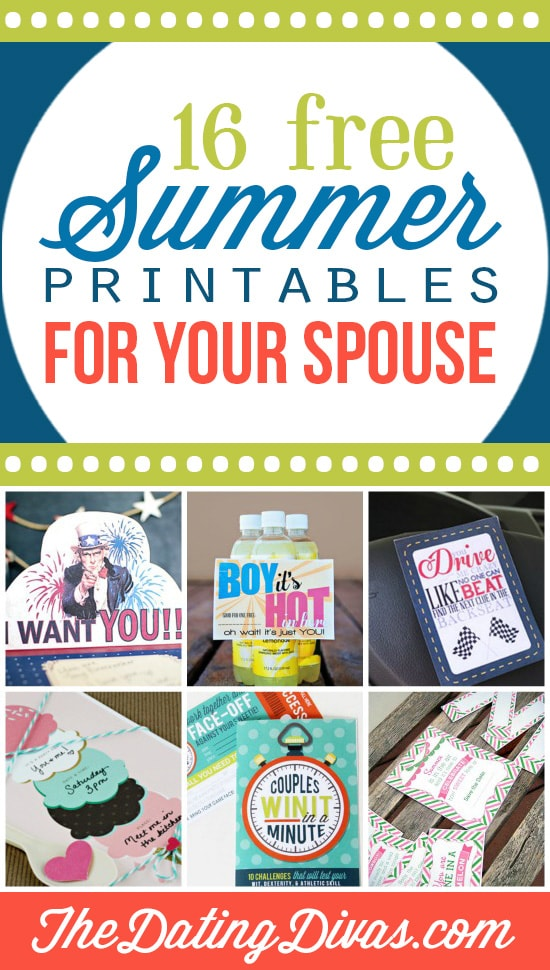 Fun and exciting printables for your spouse