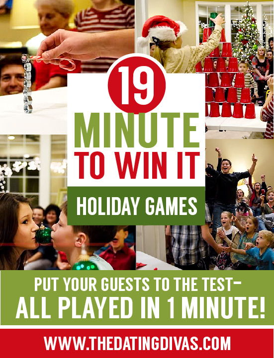 19 minute to win it Christmas party games!
