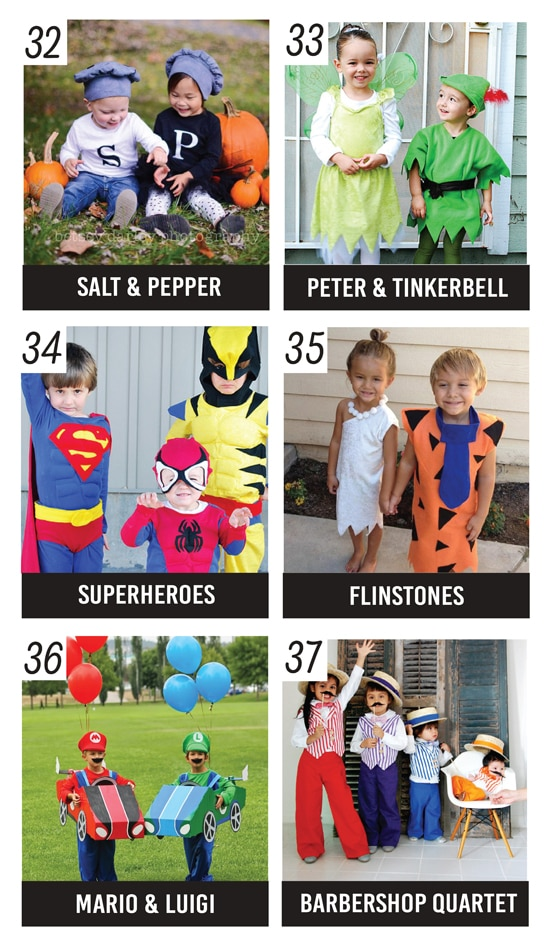 20 Cute Sibling Costume Ideas