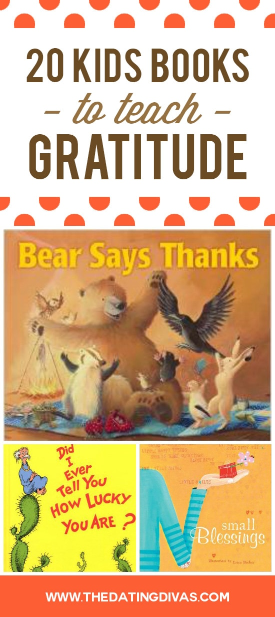 20 Books to teach kids gratitude.