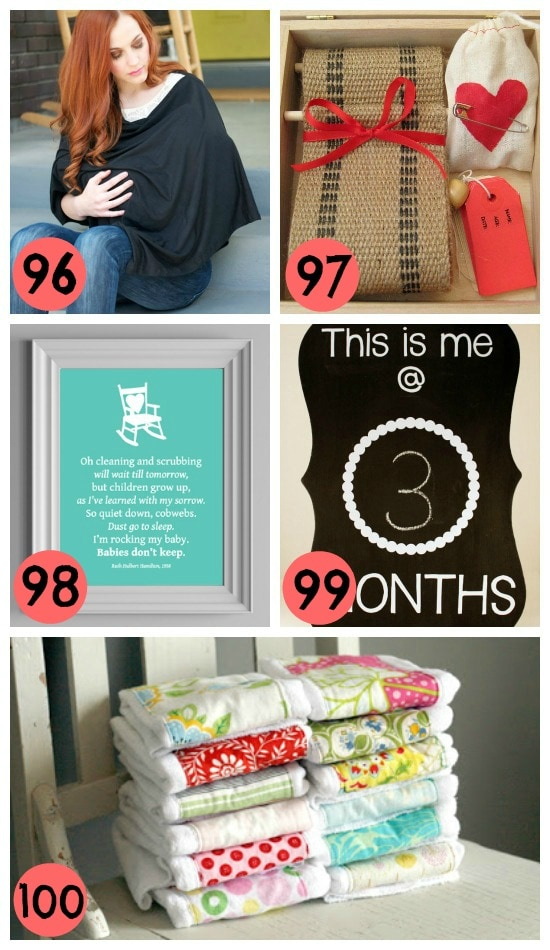 20- homemade gifts for new moms