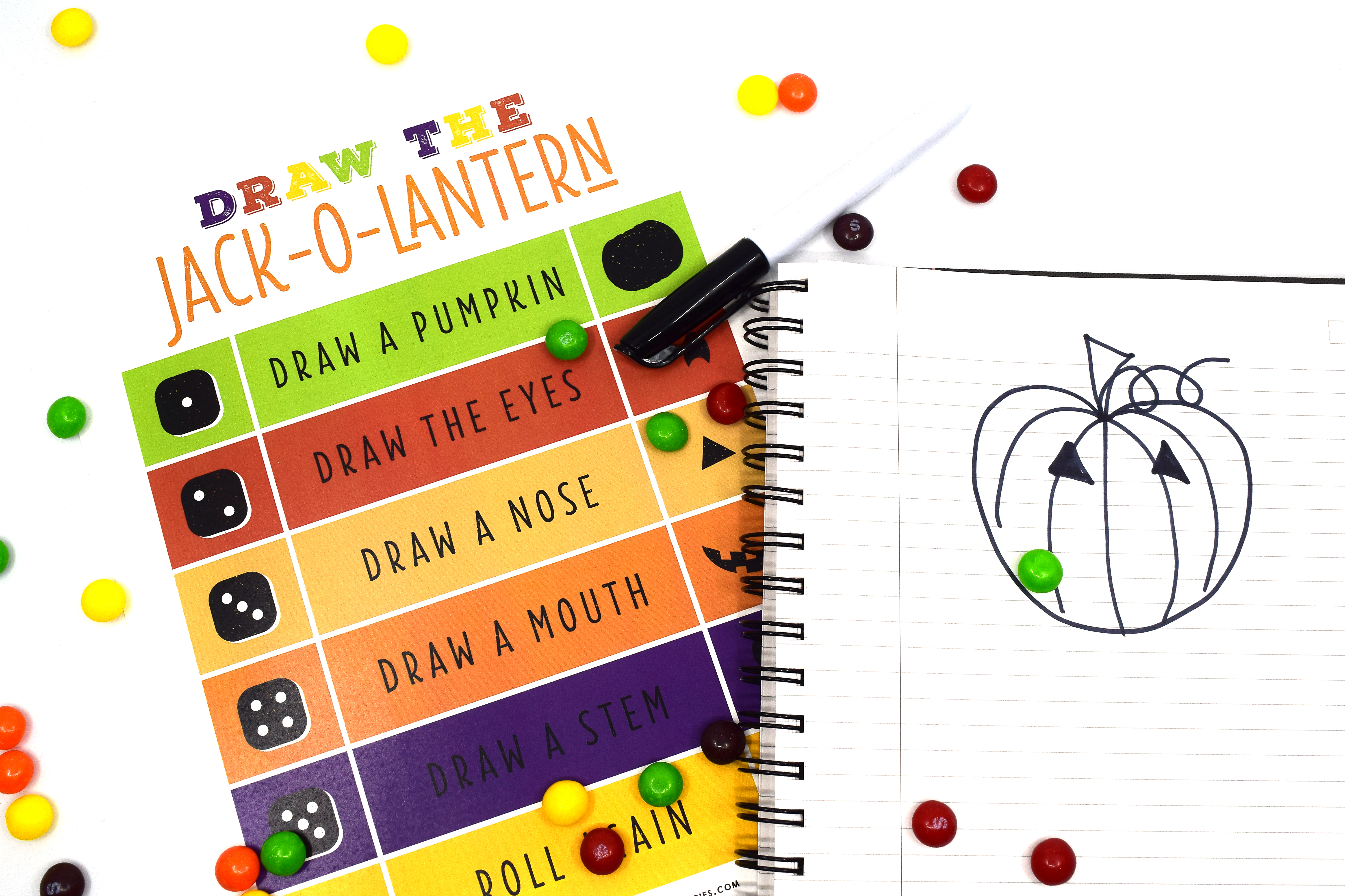 To play this game, you will need a piece of paper and writing utensil for every player, the Draw the Jack-O-Lantern game ...