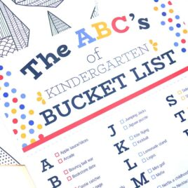 Made for you Kindergarten bucket lists for date night.