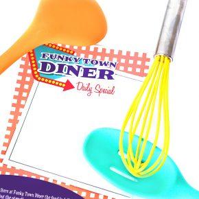 Funky Town Diner menu.