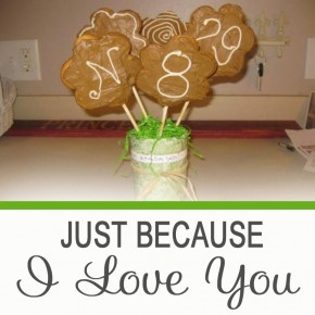 Just Because I Love You cookie bouquet.