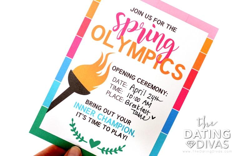 Spring Olympics Invite