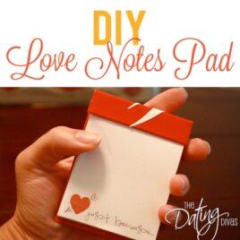 DIY Printable Love Notes Pad