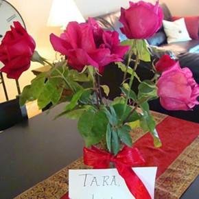 Hubby Highlights: Fresh roses idea.