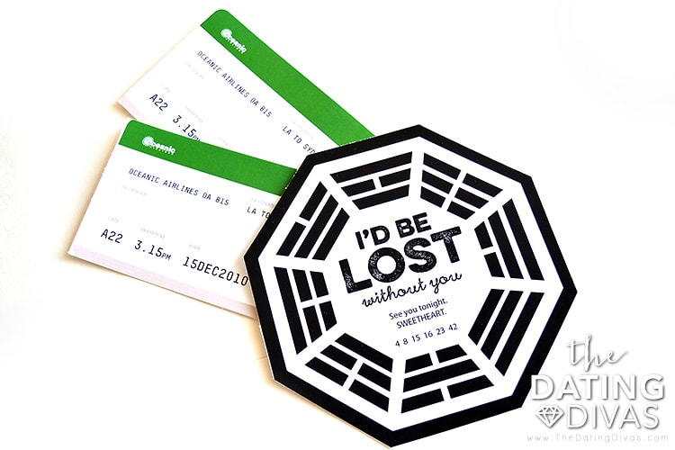 Lost themed date invite