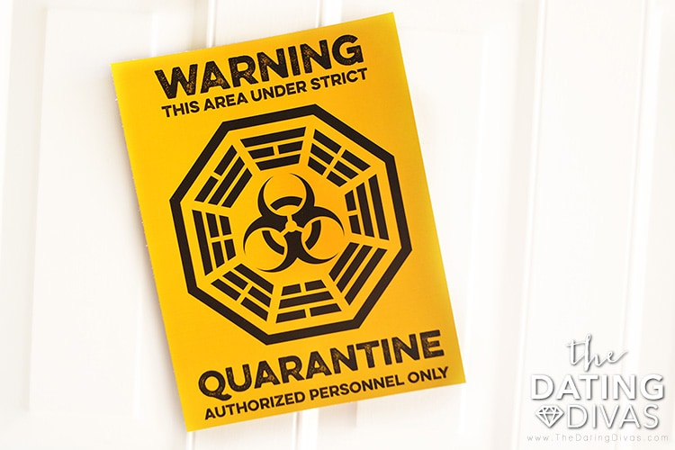 Lost themed quarantine signs
