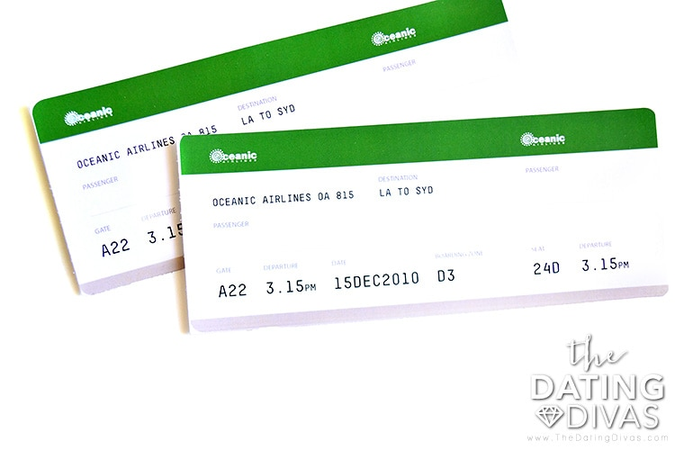Lost themed tickets