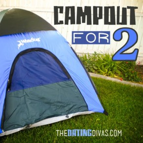 Campout for two: a darling at home date night idea!