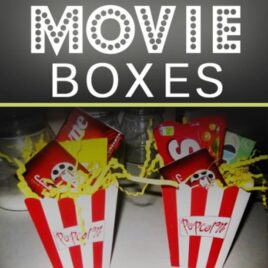DIY MOvie Boxes gift idea for any occasion.