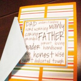 A Father's Day card tutorial he's going to love.