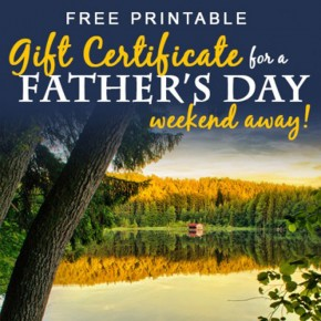 Print off this Father's Day gift certificate for the man in your life!
