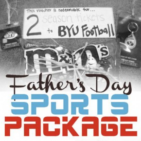 Father's Day sports package - a creative gift idea for him.