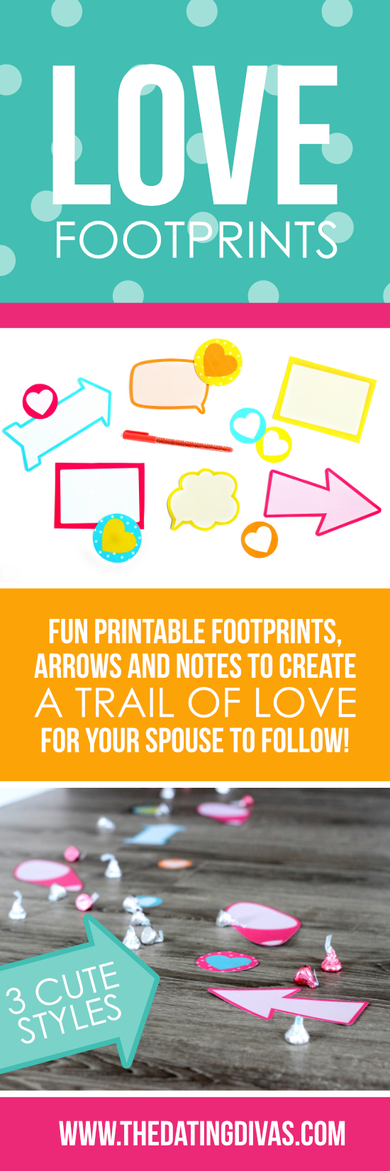 Love Footprints Trail Printables #TrailofLove #PrintableFootprints
