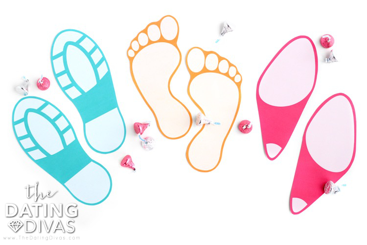 Printable Love Footprints