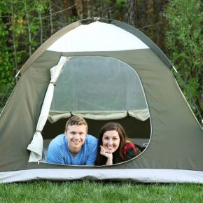 Backyard camping date night with your spouse!