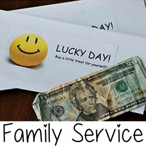 My Mix of Six shares this darling Family Service idea.