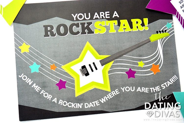 Rockstar Date Night Invite