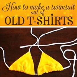 Fun in da sun - a DIY bikini swimsuit made out of a shirt.