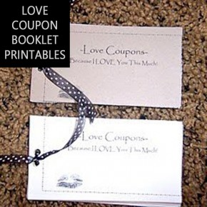 Homemade DIY love coupon booklet.