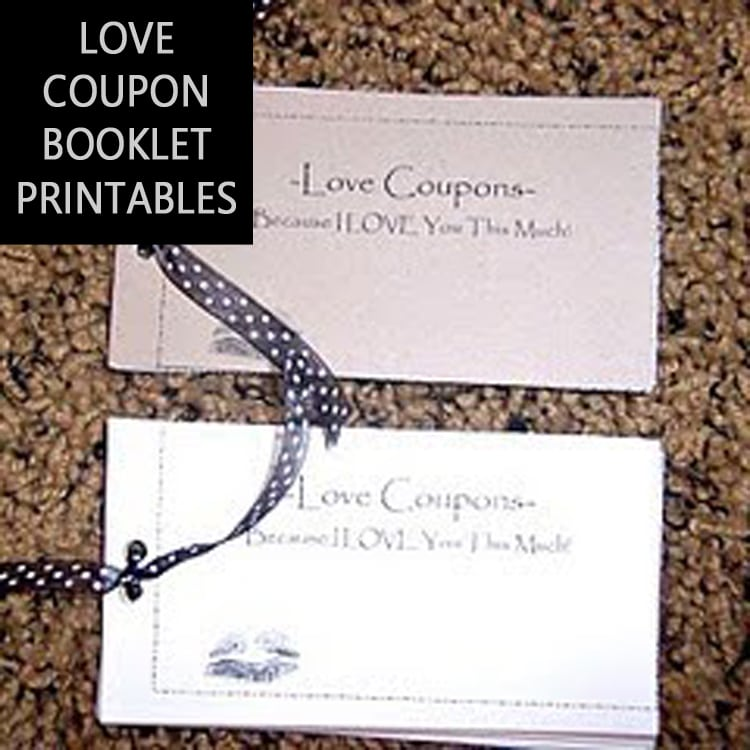 Coupon Booklet - Amazing Homemade Coupon Booklet with Printables