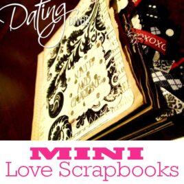 Mini love scrapbook DIY