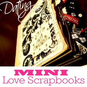 Mini love scrapbook DIY