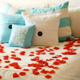 Not just for the garden - decorating with rose petals.