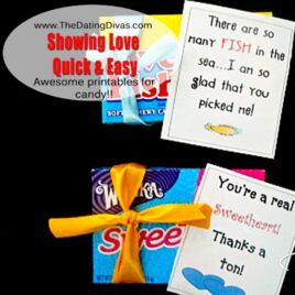 Showing love for your spouse - quick and easy printable candy tags.