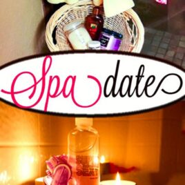 An at-home spa date night idea