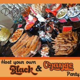 Black and Orange Halloween Party Idea