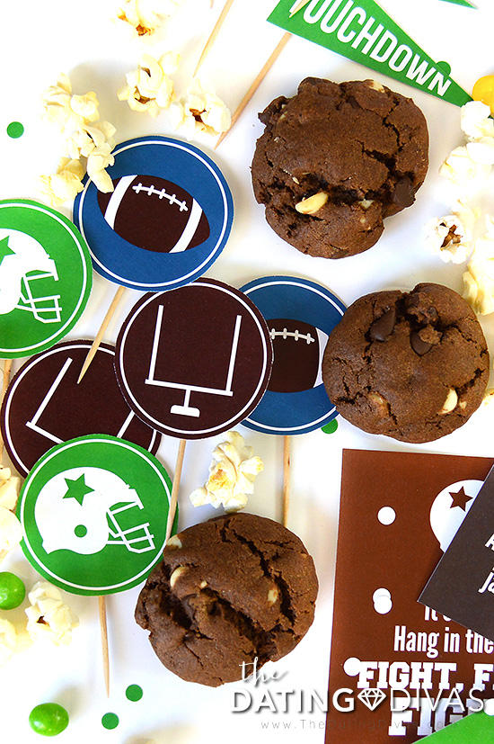 Create Your Own Pep Rally Date Cupcake Toppers