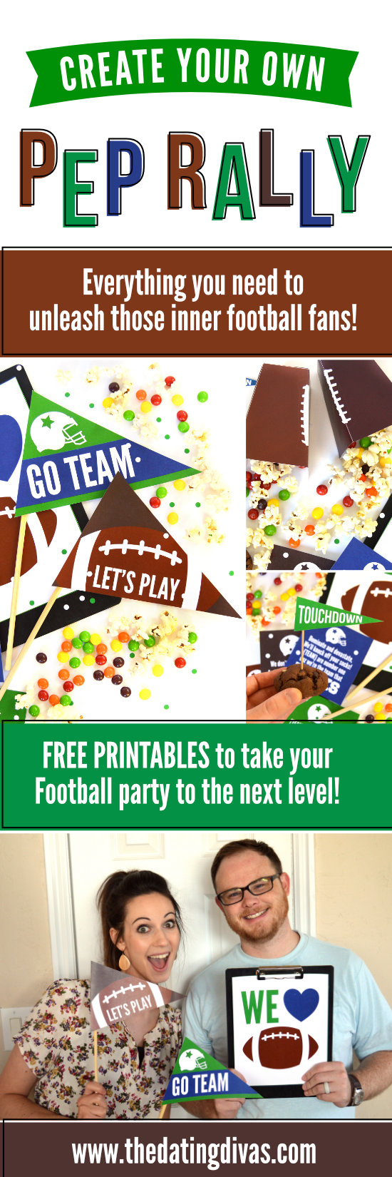 Create Your Own Pep Rally Date #footballseason #footballparty