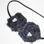 Scrappy Fabric Rosette Headband Tutorial