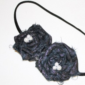 Rosette Headband tutorial.