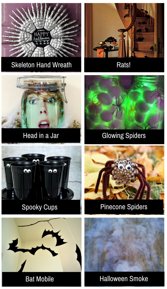 Spooky Halloween ideas for the holiday.