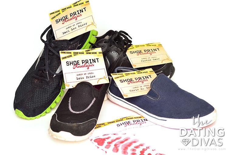 Shoe print analysis for a CSI date night.
