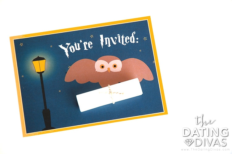Harry Potter date night invitation!