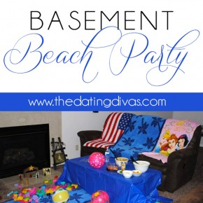 A basement beach party for two!
