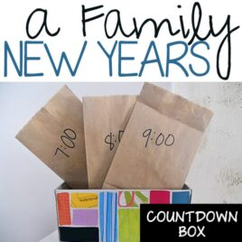 A family New Year's countdown box.