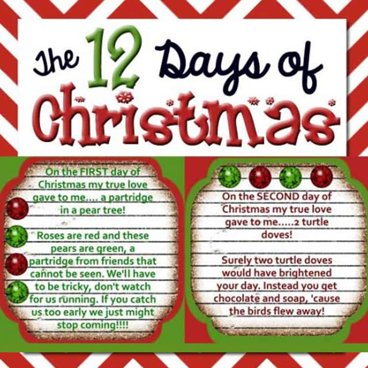 the 12 days of christmasjpg - When Are The Twelve Days Of Christmas