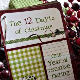 """The 12 """"Daytz"""" of Christmas printable kit."""