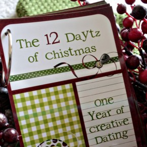 "The 12 ""Daytz"" of Christmas printable kit."