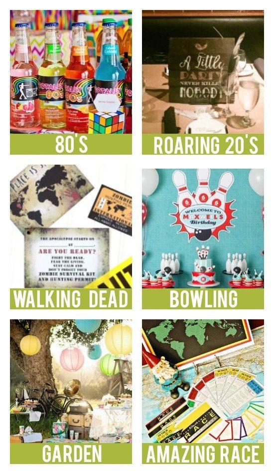 Adult Birthday Party Theme Ideas