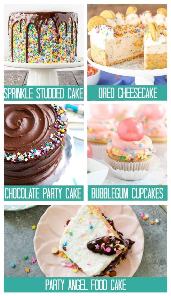 Birthday Treats Cupcakes and Cakes