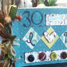 Craft Tutorial: Cereal Box Scrapbook