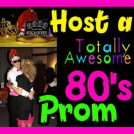 How to host a totally awesome 80's theme prom group date night